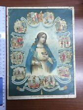 1900/1910 Santa Lucia Vergine e Martire, Cromolitografia, Originale