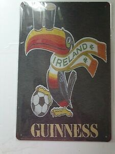 Guinness Toucan Football Metal Sign Plaque Man Cave Beer Retro Pub Bar Garage