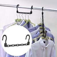 5Pcs/Set Wonder Hanger Max Closet Space Saving Magic Hangers Rack With Hook