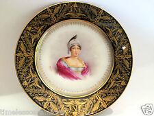 Antique Sevres Imperial Hand Painted Porcelain Potrait Plate Letizia Bonaparte