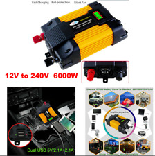 6000W DC12 to AC 220V Car Power Inverter Charger Solar Converter Sine Wave