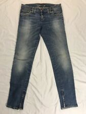 Miss Sixty Women's Blue Straight Leg Jeans Size 28 Made In Italy