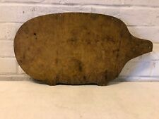 Primitive Thick Wooden Pig Design Shaped Cutting Board Country Kitchen Tool