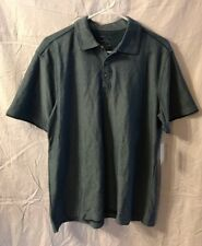 Men's VanHeusen Studio Polo Shirt, Size Medium, Cotton Blend, Blue
