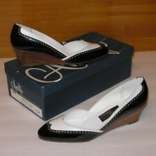 new AMALFI by Rangoni ANNE 6½ AA ladies shoes—Tuscan calf & patent leather—Italy
