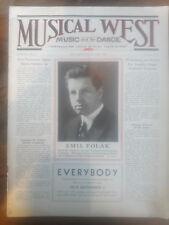 1932 MUSICAL WEST MAGAZINE EMIL POLAK HARRIET BEECHER FISH ESTELLE REED MAG0028