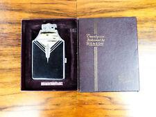 Vintage 1940s Ronson Art Deco Cigarette Case and Lighter w Original Box - Unused