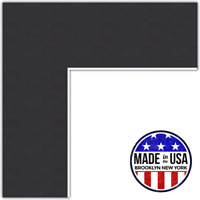 ArtToFrames Custom Black Picture Photo Frame Mat Matting Board LG