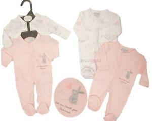 BNWT Tiny Premature Baby girls or boys cotton twin PK of sleep-suit 3-5 lb 5-8lb