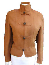 Valentino Women Camel Wool Angora Short Army Jacket Military Buttons 46/12