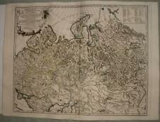 WESTERN RUSSIA ESTONIA LITHUANIA FINLAND 1750 VAUGONDY ANTIQUE ORIGINAL MAP