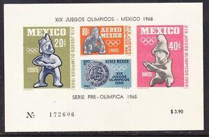 Mexico 1964 Olympics Miniature Sheet 172606 Large MNH