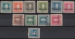 Österreich-Ungarische Feldpost in Italien 1918 Postfrisch/Falz, gestempelt.