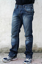 GUESS VENTURA VINTAGE MENS FADED LUXURY JEANS BLUE DENIM STRAIGHT LEG W31 LOOK