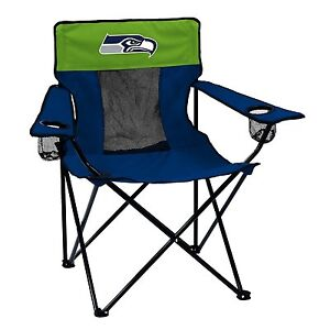 Seattle Seahawks Logo Quad Chair - Portable w/ Cupholder -NFL Licensed- FREE S/H