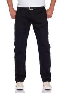 M.O.D Miracle of Denim Herren Jeans Thomas Comfort Black Wash, gerades Bein