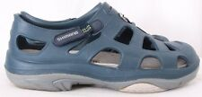 Shimano Evair Blue Slip On Velcro Water Marine Fishing Sandals Men's US 11