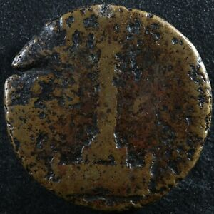 Antoninus Pius Sestertius Corinthian column statue Rome RIC 1269