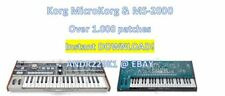 KORG MICROKORG & ms-2000 - patchbanks/SOUNDS – 1000+ Patchs-d0wnl0ad