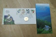 Malaysia 1997 Highland Birds Burung Tanah Tinggi Stamp + Nordic Gold Coin FDC #1