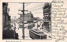 ELGIN ILLINOIS FOUNTAIN SQUARE~TROLLIES~J MURRAY JORDAN PUBLISHED  POSTCARD 1910