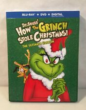 How the Grinch Stole Christmas The Ultimate Edition Blu-ray+Dvd w/Slipcover New