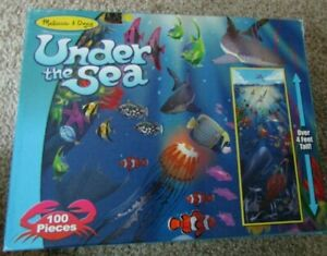 Melissa And Doug UNDER THE SEA Floor Puzzle 100pc Over 4 ft Tall  Easy Clean