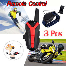 3x Motorcycle Bluetooth Helmet Intercom Headset Wireless Remote PPT 400-470MHZ K