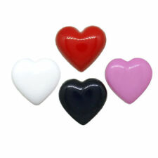 PK 20 ACRYLIC HEART FACETED WHITE SHANK  BUTTONS EMBELLISHMENT 15MM CRAFT SEWING