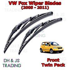 """(05-11) VW Fox Front Wiper Blades Windscreen 21"""" 15"""" Hook Type Volkswagen"""