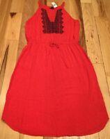 Gap Women's (L) Large Red & Navy Blue Sundress. Lightweight Dress. Nwt