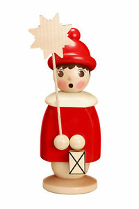 Christmas Decoration Frierendes Kurrendekind with Star Red Height 26cm New