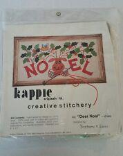 "Kappie Original Creative Stitchery Kit ""Deer Noel"" C003 Barbara K Seres, 6x12"""
