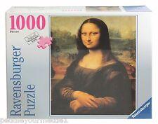 NEW Ravensburger Mona Lisa by Leonardo da Vinci 1000 Pc Jigsaw Puzzle # 81940