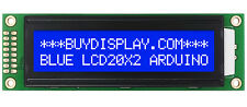 Low-Cost 2002 20x2 Charcter LCD Display Module Blue White Color