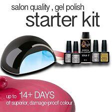 QUTIQUE Professional Gel Nail Polish Colour COMPLETE STARTER Kit with LED Lamp