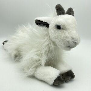 """FAO SCHWARZ 15"""" White Fuzzy Baby Mountain Goat Plush"""