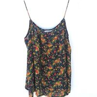 Tucker for Target Womens Small Tank Top Navy Blue Floral Spaghetti Strap Boho