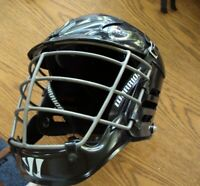 Black Warrior Lacrosse Helmet Size Adult Medium With Chinstrap