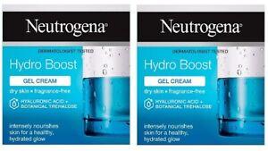 2 x Neutrogena Hydro Boost Gel Cream - New & Boxed - (2 x 50ml) Fragrance Free