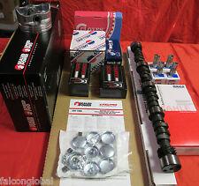 Mercruiser Chevy 5.7L 350 Marine MASTER Engine Kit Pistons Cam 2PC bearings WP