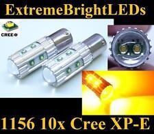 TWO Amber Orange 50W 10x Cree XP-E 1156 7506 LED Turn Signal Brake Stop Lights