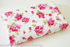 100% coton toile matériel FQ fat trimestre Chou roses sur ivoire