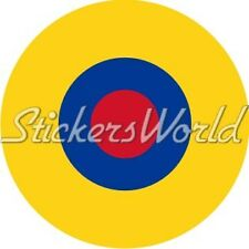 "ECUADOR Ecuadorian Air Force Aircraft Roundel FAE 100mm (4"") Vinyl Sticker Decal"