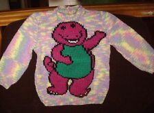 BABY BABIES  NEW HAND KNITTED SIZE 12-18 MONTHS BARNEY JUMPER