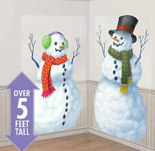 SNOWMEN Scene Setter Christmas holiday winter party wall decor kit 5' Frosty