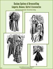 1940s 40s Haslam Draft Pattern Making Book #8 (Sewing Drafting) Dress Fashions