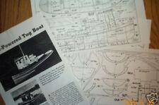 ESSO honduras tug boat model boat plans