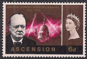 Ascension Island 1966 QE2 6d Churchill Commemoration MM SG 93 ( E860 )