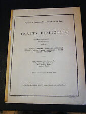 Partition Traits difficiles Cor Anglais Alphonse Leduc Music Sheet
